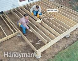 how to frame a floor how to build a wood and deck family handyman