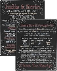 how to do a wedding program a hilarious program that i would totally consider wedding program