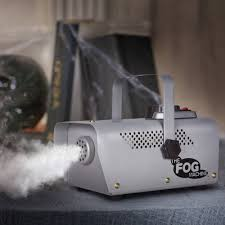 gemmy fog machine with remote 400w mini silver halloween
