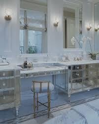 Mirrored Bathroom Furniture Mirrored Bathroom Vanity Transitional Bathroom