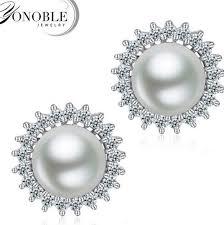 real earrings 2017 100 real freshwater pearl earrings for women pearl