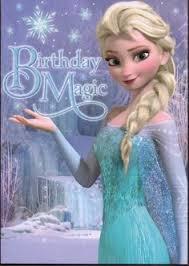 handmade elsa frozen birthday card to special grandaughter elsa