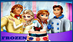 play u0026 have fun with frozen family cooking wedding cake video game