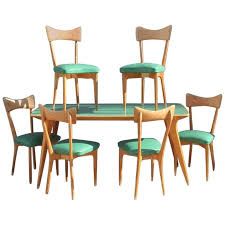 Table With Chairs Attributed To Ico Parisi MidCentury Italian - Italian design chairs