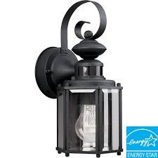 Home Depot Light Fixtures Outdoor by Progress Lighting Motion Sensor Black Outdoor Wall Lantern P5662