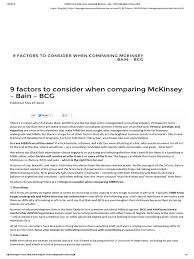 9 factors to consider when comparing mckinsey bain bcg