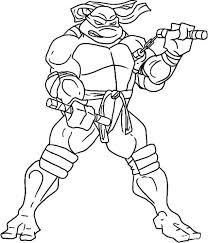 print u0026 download ninja turtles coloring pages michelangelo hard