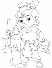 krishna sprinter coloring pages download free krishna