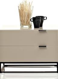 contemporary minimalist dark brown and avorio night stand by argo