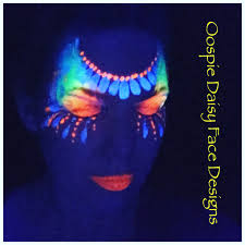 Paint Design by Oopsie Daisy Face Designs Uv Face Paint Face Paint Uv Paint