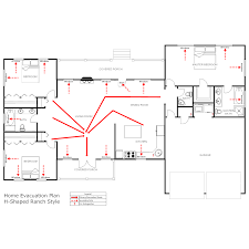 Fire Evacuation Floor Plan Hurricane Emergency Plan Template