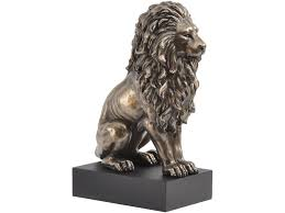 lion statue bronze sitting lion sculpture classic sitting lion statue