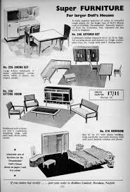 1960 Bedroom Furniture by Hobbies Of Dereham Dolls House Furniture And Fittings 1946 1968 By