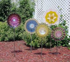 innovative glass garden decor vintage glass garden upcycle that