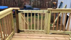 How To Build A Deck Handrail How To Build A Deck Gate Youtube