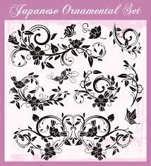 japanese styles ornaments design vector set 10 vector ornament