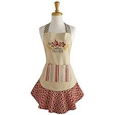 dii cotton thanksgiving kitchen apron with pocket and