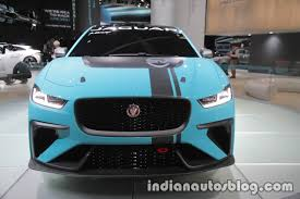 jaguar front jaguar i pace etrophy front at the iaa 2017 indian autos blog
