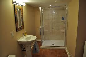 Small Basement Bathroom Designs Opulent Design Basement Shower Moving Drain Basements Ideas