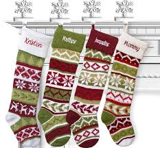 amazon com set of 4 knit christmas stockings fair isle design 28