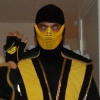 Scorpion Halloween Costume Raiden Mortal Kombat Mashup Bruthabeige