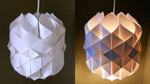 How To Make A Fake Chandelier Diy Paper Lamp Lantern Cathedral Light How To Make A Pendant
