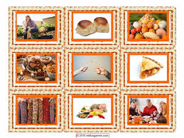 thanksgiving card 4 pages 36 cards by eslfungames