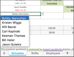 Employee Schedule Excel Template Free Excel Employee Scheduling Template When I Work
