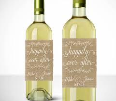 labels for wedding favors happily after wine labels printable wedding favor