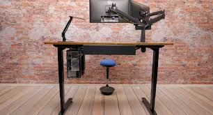 Telescoping Table Bamboo Stand Up Desk 1