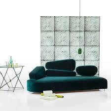 revetement canapé canapé design organique en tissu 3 places avec revêtement