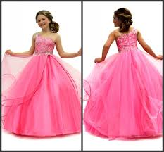 fashion trends bright pink prom dress mixed with strapless top
