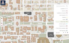 University Of Chicago Map by University Of Arizona Campus Map Arizona Map
