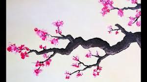 Peinture Cerisier Japonais by Cerisier En Fleurs Peinture Acrylique Youtube