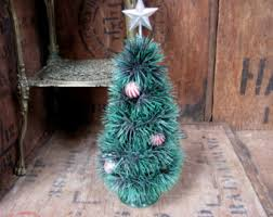 Mini Decorated Christmas Trees Mini Christmas Tree Etsy