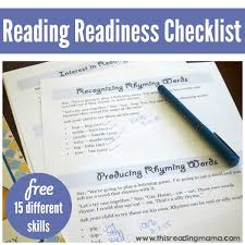 ready to read reading readiness signs and checklist assessment