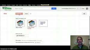 creating a google site template youtube