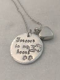 remembrance necklace forever in my heart necklace loss of cat pet remembrance