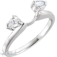 Wedding Ring Wraps by 14k Gold 1 4 Ct Tw Diamond Pear Shape Ring Wrap Ann Harrington
