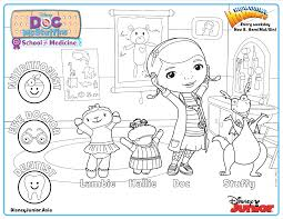 doc mcstuffins of medicine colouring page disney junior