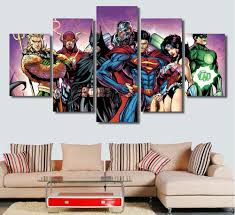 high quality justice league canvas art buy cheap pcs comics justice league cyborg canvas painting the wall art pictures for living