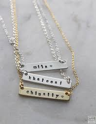nameplate necklace customize your own name necklace gold or silver nameplate necklace