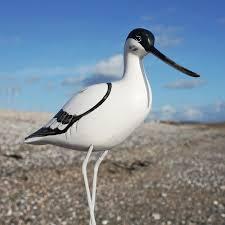 avocet standing wooden bird carved birds buy the sea