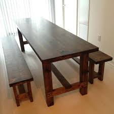 Large Kitchen Tables With Benches Kitchen Table With A Bench U2013 Amarillobrewing Co