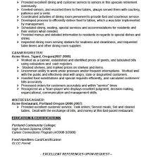waitress resume sample waitresshostess resume samples resume