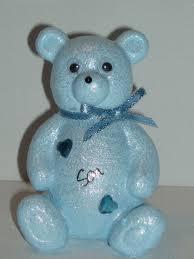 baby blue teddy outdoor cemetery grave memorial