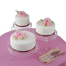 cake tier 307 352 three tier scroll cake and treat display