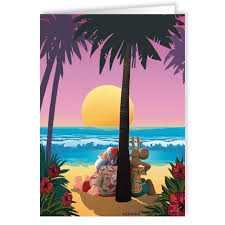 tropical christmas cards tropical sunset christmas card 18 cards and