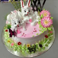 rabbit cake min 2kg vanilla white rabbit cake online gifts delivery in