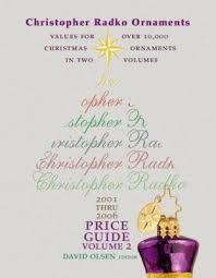 christopher radko ornaments volume 2 by david